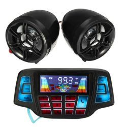Motorcycle Handlebar MP3 Radio & Speakers USB SD FM with Bluetooth