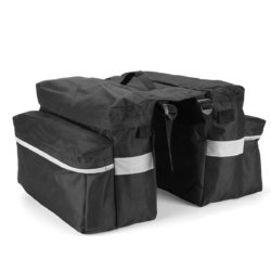 Motorcycle Black Canvas Saddlebags
