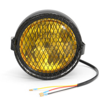 Motorcycle Retro Headlight with Grill