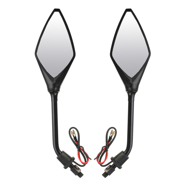 8mm or 10mm Motorcycle Rear View Mirrors with LED Indicators