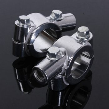 22mm Motorcycle Handlebar 8mm Thread Mirror Clamps