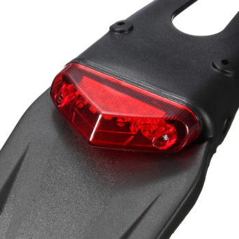 Motorcycle Rear Fender with 12 LED Tail Light Universal